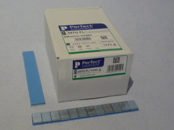 Perfect Equipment PKW Stahl Kleberiegel verzinkt 60g Typ 397U FL 100 Stück,Klebegewicht