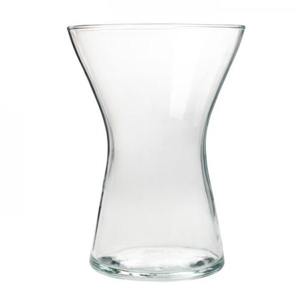 Glas Vase Spring X, H=19,5 cm D=14 cm transparent, klar