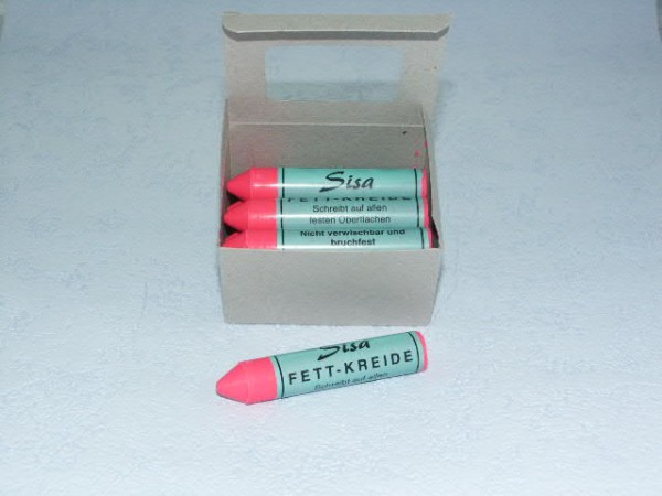 SISA Fett-Signierkreide pink 12 Stück