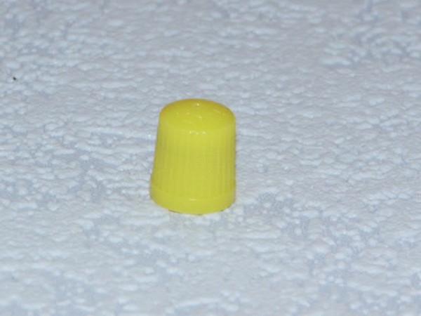 Ventilkappen Kunststoff gelb 100 Stück