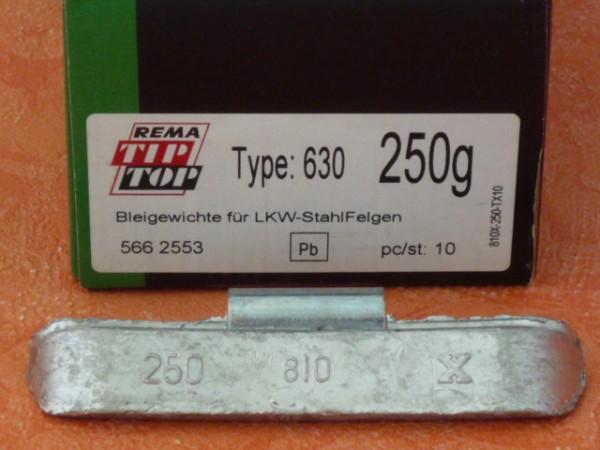 LKW Blei-Auswuchtgewichte 250g für Stahlräder 10 Stück