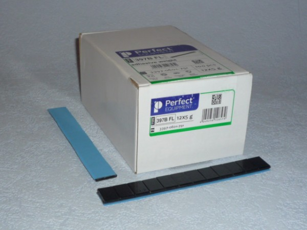 Perfect Equipment Stahl-Kleberiegel schwarz 60g 50 Stück,Klebegewicht,Auswuchtmaschiine