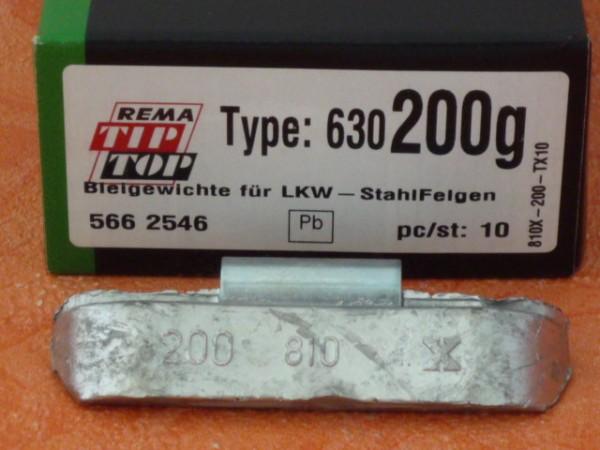 LKW Blei-Auswuchtgewichte 200g für Stahlräder 10 Stück