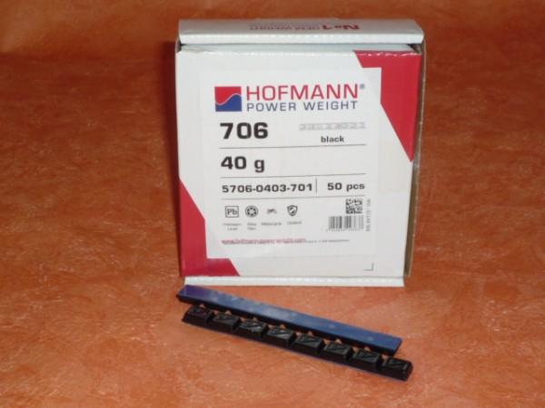 Hofmann Power Weight Typ 706 Motorrad-Kleberiegel Blei 40g 100 Stück,schwarz,Klebegewichte