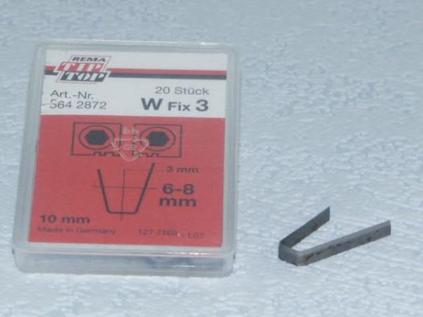 Schneidmesser für Rubber Cut W Fix 3 20 Stück