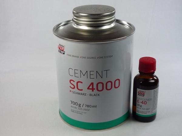 TipTop CEMENT SC 4000 schwarz 700g und Härter E-40 30g