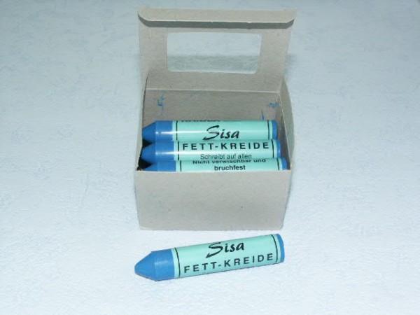 SISA Fett-Signierkreide blau 12 Stück