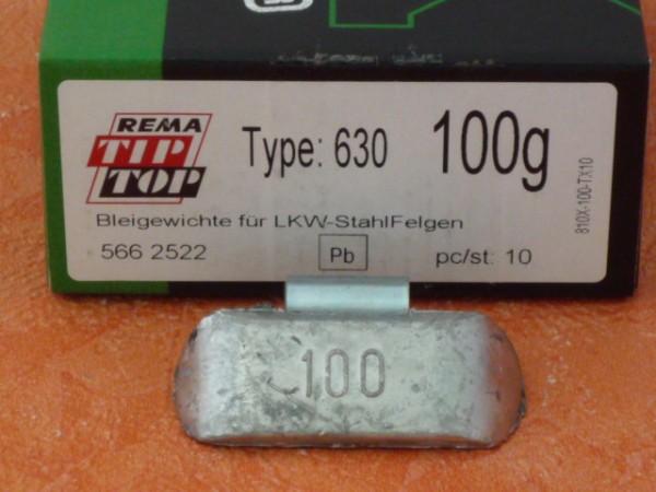 LKW Blei-Auswuchtgewichte 100g für Stahlräder 10 Stück