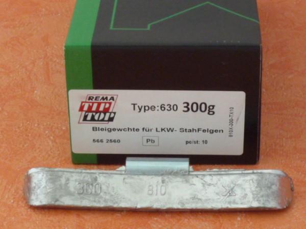 LKW Blei-Auswuchtgewichte 300g für Stahlräder 10 Stück