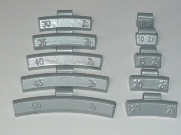 Zink-Auswuchtgewichte 5g für Aluräder 50 Stück
