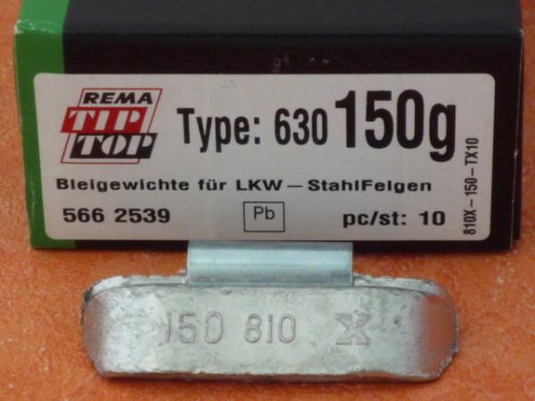LKW Blei-Auswuchtgewichte 150g für Stahlräder 10 Stück