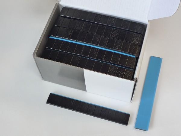 Stahl-Kleberiegel schwarz 60g 100 Stück