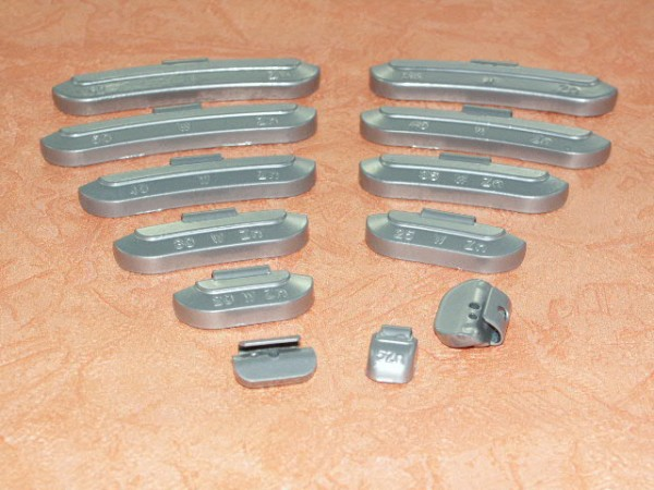 Zink Auswuchtgewichte 60g für Stahlräder 100 Stück,Rema Tip Top