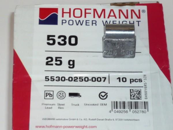 Hofmann LKW Auswuchtgewichte 25g für Stahlräder 10 Stück