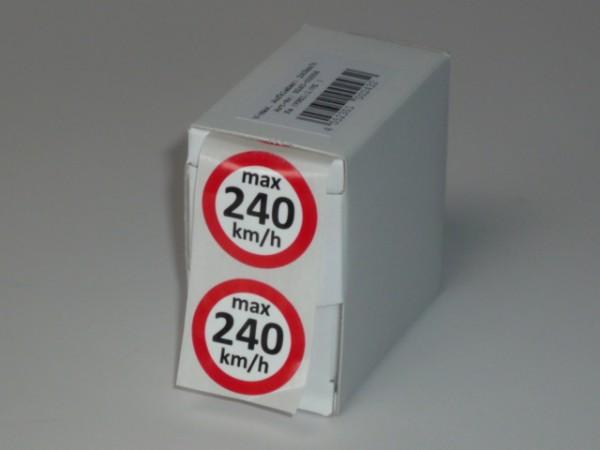 Geschwindigkeitsaufkleber V 240 km/h 100 Stück