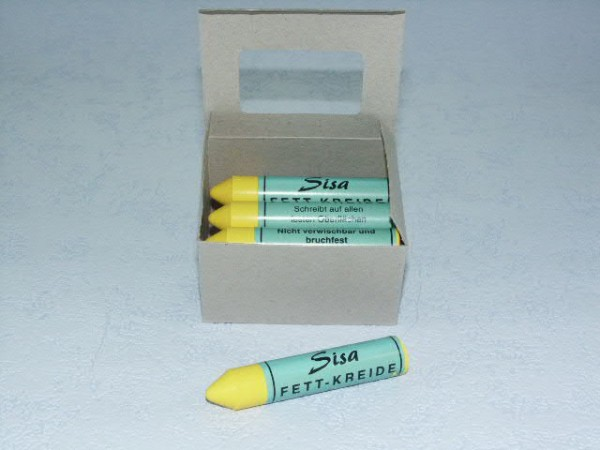 SISA Fett-Signierkreide gelb 12 Stück