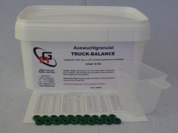 Auswuchtgranulat RG TRUCK-BALANCE 8 KGWuchtpulver,Wuchtperlen,auswuchten,LKW,Bus,LLKW