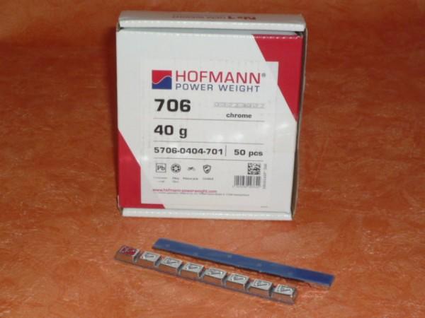 Hofmann Typ 706 Motorrad-Kleberiegel Blei 40g verchromt 50 Stück,Klebegewicht