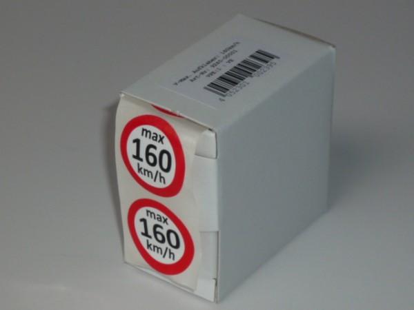 Geschwindigkeitsaufkleber Q 160 km/h 100 Stück