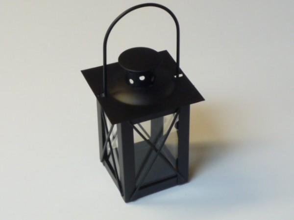 Metall Laterne ( Windlicht ) L=8 cm B=8 cm H=11 cm schwarz
