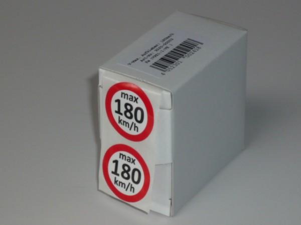 Geschwindigkeitsaufkleber S 180 km/h 100 Stück