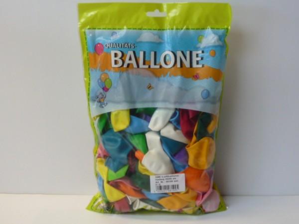 100x Luftballon farblich Sortiert D=85 cm bunt