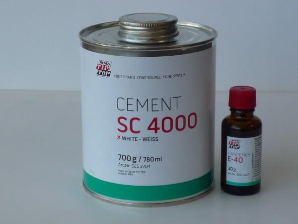 TipTop CEMENT SC 4000 weiß 700g und Härter E-40 30g