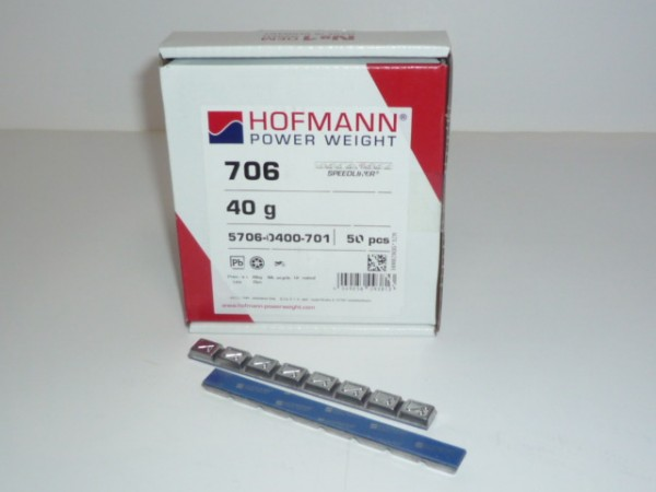 Hofmann Typ 706 Motorrad-Kleberiegel Blei 40g 50 Stück
