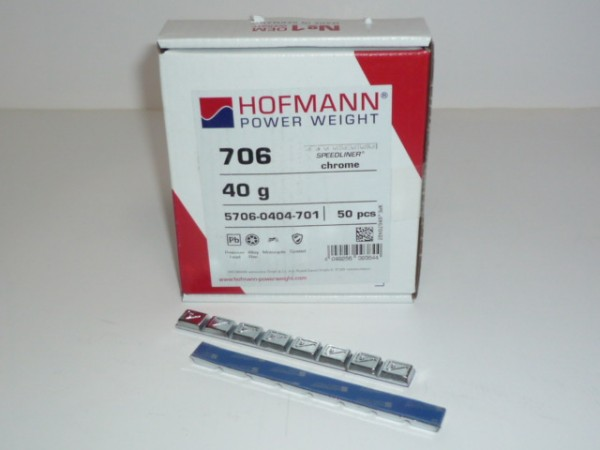 Hofmann Typ 706 Motorrad-Kleberiegel Blei 40g verchromt 100 Stück