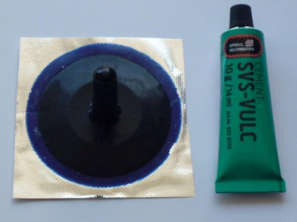 Ventilflicken VF TR13, Gummifuß Ø 66mm 1 Stück + Tip Top Vulkanisierfl. 10g