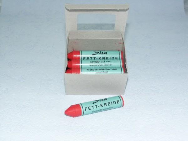 SISA Fett-Signierkreide rot 12 Stück