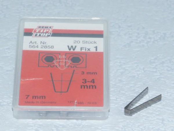 Schneidmesser für Rubber Cut W Fix 1 20 Stück