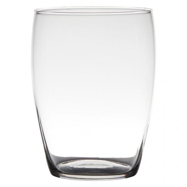 Glas Vase bauchig H=20 cm D=14 cm transparent klar farblos