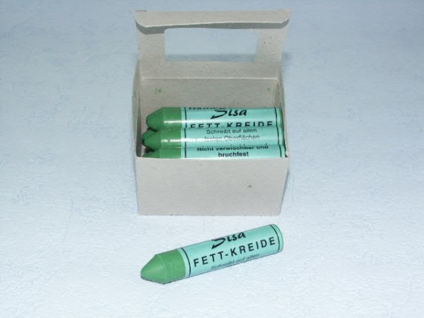 SISA Fett-Signierkreide grün 12 Sück