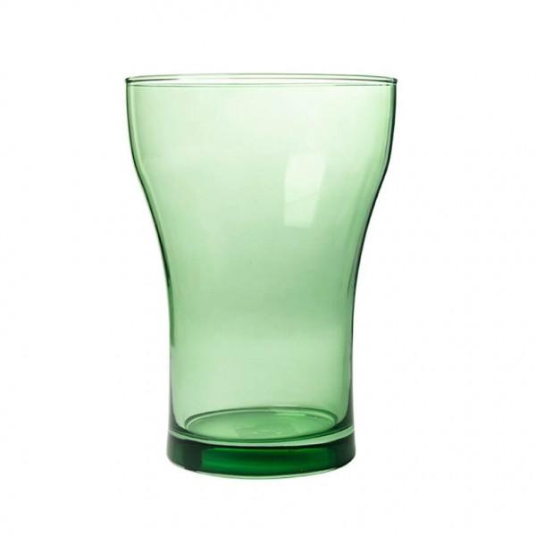 Glas Vase H=19,5 cm D=14 cm hellgrün transparent