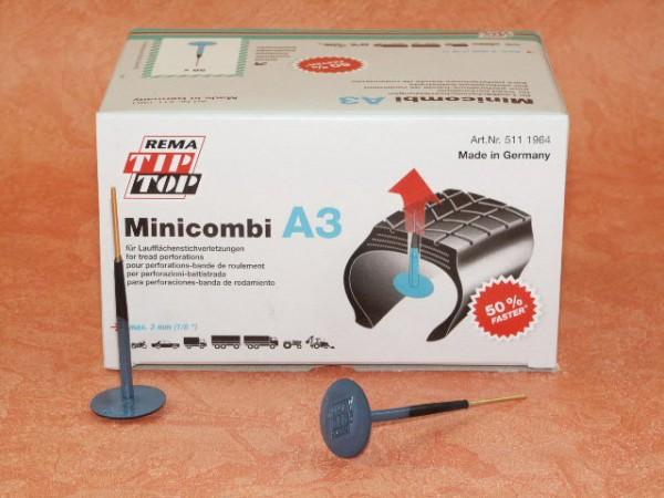 Rema Tip Top Minicombi A3 Nachfüllpackung 50 Stück, Reifenreparatur