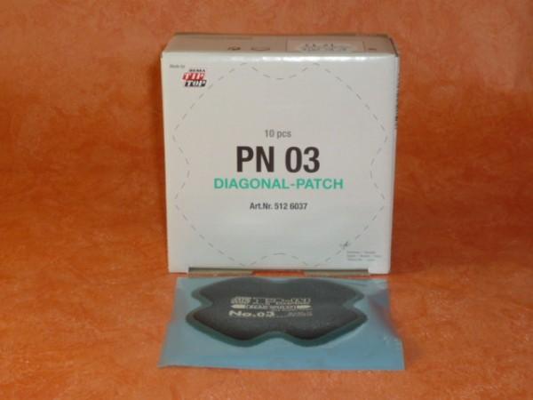 Tip Top Diagonal PN 03 Reparaturpflaster 10 Stück