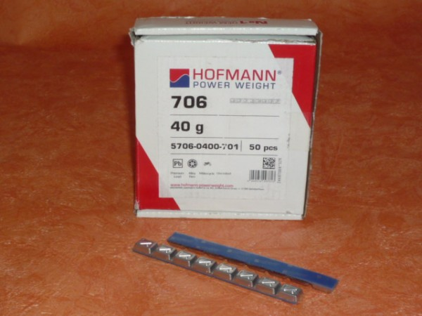 Hofmann Typ 706 Motorrad-Kleberiegel Blei 40g 100 Stück,Klebegewicht