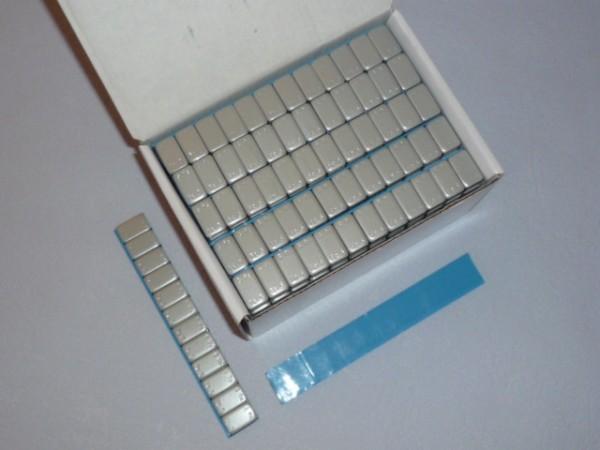 Stahl Kleberiegel 60g, kunststoffbeschichtet grau 100 Stück,Klebegewicht,Auswuchtgewicht
